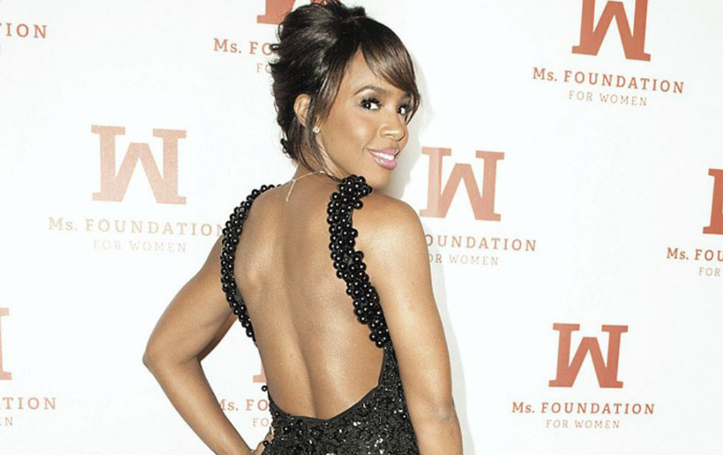 Kelly Rowland Stuns In A Black Embellished Dress From South African Designer, Gert-Johan Coetzee