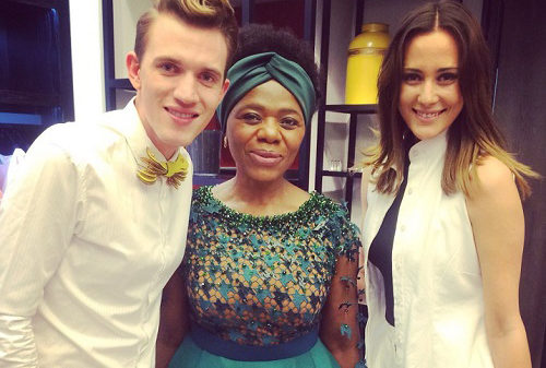 Thuli and Gert-Johan Coetzee at SA Fashion Week