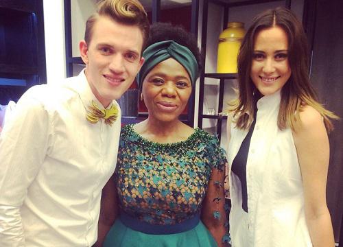 Thuli and Gert-Johan Coetzee at SA Fashion Week